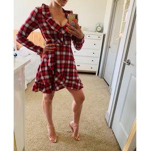 ~Like New~ Plaid Ruffle Dress
